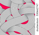 seamless op art vector pattern. ... | Shutterstock .eps vector #530662747
