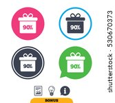 90  sale gift box tag sign icon.... | Shutterstock .eps vector #530670373