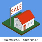 isometric house with sale...