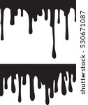 black paint drips. vector... | Shutterstock .eps vector #530671087