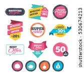 sale stickers  online shopping. ... | Shutterstock .eps vector #530674213