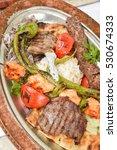 turkish kebap plate | Shutterstock . vector #530674333