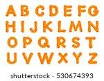 alphabet crochet on new year's  ... | Shutterstock . vector #530674393