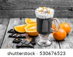 hot chocolate drink with... | Shutterstock . vector #530676523