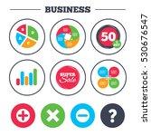 business pie chart. growth... | Shutterstock .eps vector #530676547