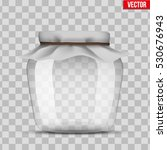 glass jar for canning and... | Shutterstock .eps vector #530676943