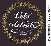 holiday vector circle... | Shutterstock .eps vector #530678047