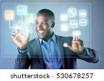 african businessman smiling...   Shutterstock . vector #530678257