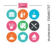 food  drink icons. coffee and... | Shutterstock .eps vector #530681737