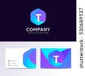 abstract flat t letter logo... | Shutterstock .eps vector #530689537