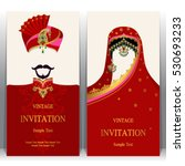 indian invitation card  pattern ... | Shutterstock .eps vector #530693233