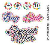 sale confetti labels and... | Shutterstock .eps vector #530693293