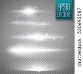 set of glow light effect stars... | Shutterstock .eps vector #530693587