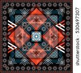 seamless ethnic pattern.... | Shutterstock .eps vector #530697307