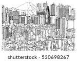scene street illustration. hand ...   Shutterstock .eps vector #530698267