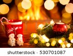 christmas decoration near...   Shutterstock . vector #530701087