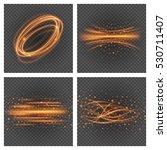 smooth light orange lines on... | Shutterstock .eps vector #530711407