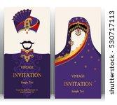 indian invitation card  pattern ... | Shutterstock .eps vector #530717113