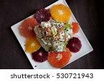 iceberg lettuce citrus wedge... | Shutterstock . vector #530721943