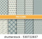 vector set of seamless pattern... | Shutterstock .eps vector #530722837