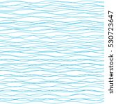 Wavy vector background. Abstract fashion pattern. Blue and white color. Light horizontal wave striped texture | Shutterstock vector #530723647