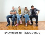 group of young people is... | Shutterstock . vector #530724577