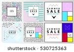 summer sale banners. memphis... | Shutterstock .eps vector #530725363