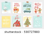 collection of 8 cute merry... | Shutterstock .eps vector #530727883