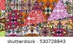 vector patchwork pattern.... | Shutterstock .eps vector #530728843