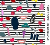 set of fashionable elements for ...   Shutterstock .eps vector #530731057