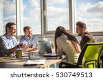business people having round... | Shutterstock . vector #530749513