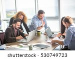 business people communicating... | Shutterstock . vector #530749723