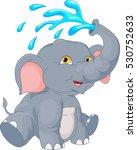 cute elephant cartoon | Shutterstock . vector #530752633