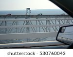 Tall Bridge Over Ocean Photo...