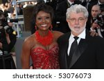 Small photo of CANNES, FRANCE - MAY 14: George Lucas and Mellody Hobson attends the 'Wall Street: Money Never Sleeps' held at the Palais during the 63rd Cannes Film Festival on May 14, 2010 in Cannes, France.