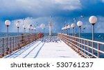 sea and blue sky. sea birds... | Shutterstock . vector #530761237