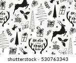 vector xmas seamless pattern... | Shutterstock .eps vector #530763343
