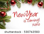 christmas and new year... | Shutterstock . vector #530763583