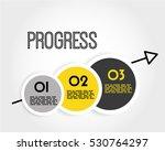 yellow progress infographic... | Shutterstock .eps vector #530764297