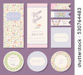 vector set of pastel tender... | Shutterstock .eps vector #530764483