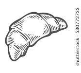 bread croissant hand drawn... | Shutterstock . vector #530772733
