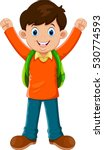 cute boy go to school | Shutterstock .eps vector #530774593