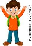 cute boy go to school | Shutterstock . vector #530774677