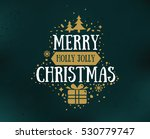 merry christmas text design.... | Shutterstock .eps vector #530779747