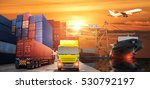 logistics and transportation of ... | Shutterstock . vector #530792197