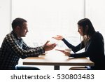 scene in cafe   couple conflict ... | Shutterstock . vector #530803483