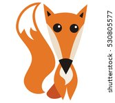 cute cartoon fox. vector... | Shutterstock .eps vector #530805577