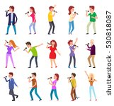 singing characters isolated on... | Shutterstock .eps vector #530818087