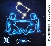 light symbol of women to gemini ... | Shutterstock .eps vector #530819203