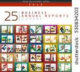 mega collection of 25 business... | Shutterstock .eps vector #530834203
